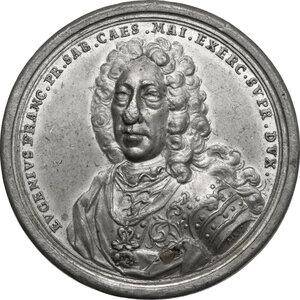 obverse: Eugenio di Savoia (1663-1736).. Medaglia 1736 per la morte