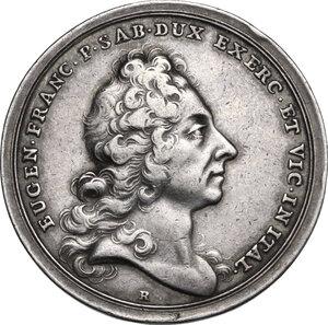 obverse: Eugenio di Savoia (1663-1736).. Medaglia celebrativa