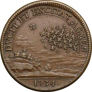 reverse: Carlo Emanuele III (1730-1773).. Medaglia 1734, per le battaglie di San Pietro (o della Crocetta) e di Guastalla, combattute dall esercito Franco-Piemontese contro l esercito Austriaco
