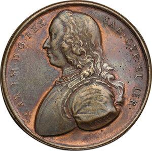 obverse: Carlo Emanuele III (1730-1773).. Medaglia 1746, per la guarigione dal vaiolo