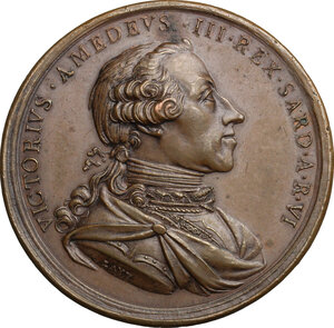 obverse: Vittorio Amedeo III (1773-1796).. Medaglia 1778