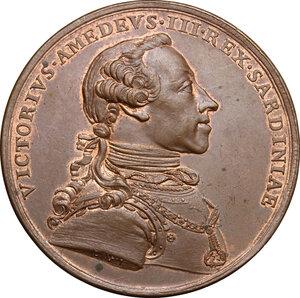 obverse: Vittorio Amedeo III (1773-1796).. Medaglia 1778, Premio per l Accademia di Pittura e Scultura