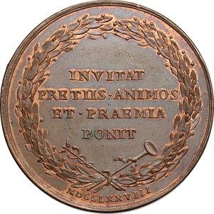 reverse: Vittorio Amedeo III (1773-1796).. Medaglia 1778, Premio per l Accademia di Pittura e Scultura