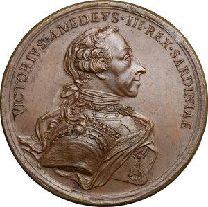 obverse: Vittorio Amedeo III (1773-1796).. Medaglia 1785, per le nozze tra il figlio primogenito di Vittorio Amedeo, Carlo Emanuele e Maria Clotilde di Borbone, sorella di Luigi XVI e nipote di Luigi XV di Francia