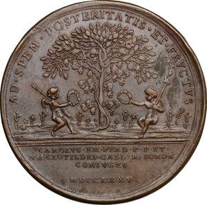 reverse: Vittorio Amedeo III (1773-1796).. Medaglia 1785, per le nozze tra il figlio primogenito di Vittorio Amedeo, Carlo Emanuele e Maria Clotilde di Borbone, sorella di Luigi XVI e nipote di Luigi XV di Francia
