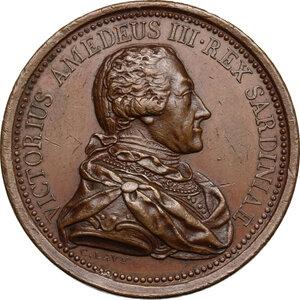 obverse: Vittorio Amedeo III (1773-1796).. Medaglia s.d