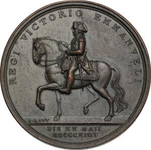 obverse: Vittorio Emanuele I (1802-1821).. Medaglia 1814, per la Guardia Nobile a cavallo in occasione del ritorno del Re a Torino