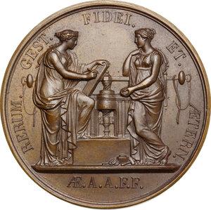 reverse: Carlo Alberto (1798-1849). Medaglia 1824 per la visita alla Zecca di Parigi