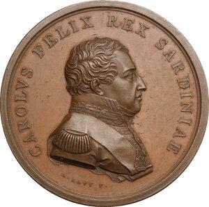 obverse: Carlo Felice (1765-1831).. Medaglia premio 1829