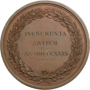 reverse: Carlo Felice (1765-1831).. Medaglia premio 1829