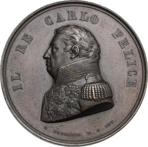 obverse: Carlo Felice (1765-1831).. Medaglia s.d