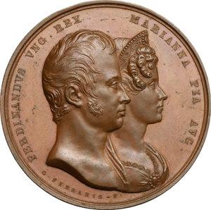 obverse: Ferdinando I, Imperatore d Austria e re del Lombardo-Veneto (1793-1875). Medaglia 1831, per le nozze con Marianna Carolina di Savoia