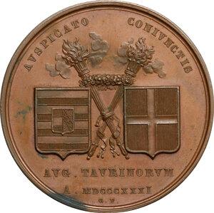 reverse: Ferdinando I, Imperatore d Austria e re del Lombardo-Veneto (1793-1875). Medaglia 1831, per le nozze con Marianna Carolina di Savoia
