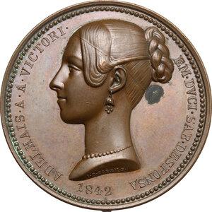 obverse: Maria Adelaide (1822-1855), moglie di Vittorio Emanuele II.. Medaglia 1842