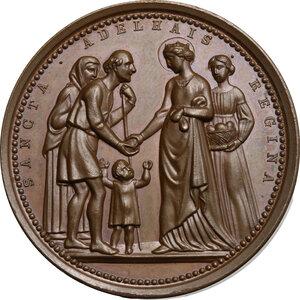 reverse: Maria Adelaide (1822-1855), moglie di Vittorio Emanuele II.. Medaglia 1842