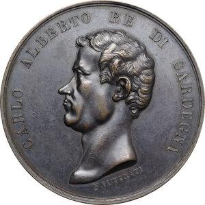 obverse: Carlo Alberto (1798-1849).. Medaglia 1843 per la visita di Carlo Alberto a Valenza