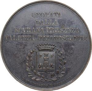 reverse: Carlo Alberto (1798-1849).. Medaglia 1843 per la visita di Carlo Alberto a Valenza