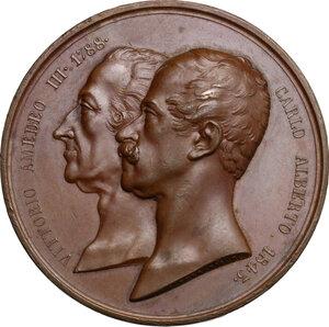 obverse: Carlo Alberto (1798-1849).. Medaglia premio della Reale Accademia d Agricoltura di Torino