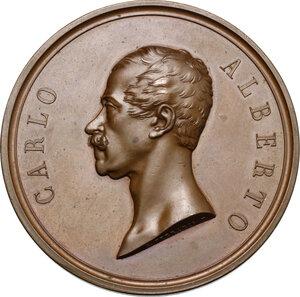 obverse: Carlo Alberto (1798-1849).. Medaglia 1847, Lega doganale