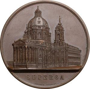 obverse: Carlo Alberto (1798-1849).. Medaglia 1849 per la morte di Carlo Alberto e la sua sepoltura nella Basilica di Superga