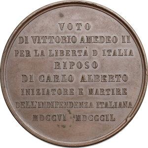 reverse: Carlo Alberto (1798-1849).. Medaglia 1849 per la morte di Carlo Alberto e la sua sepoltura nella Basilica di Superga