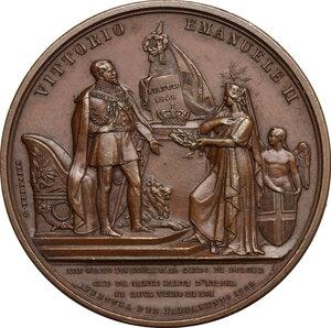 obverse: Vittorio Emanuele II  (1820-1878).. Medaglia 1859 per l apertura del Parlamento