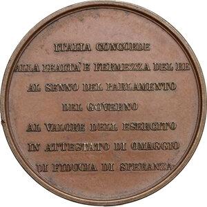 reverse: Vittorio Emanuele II  (1820-1878).. Medaglia 1859 per l apertura del Parlamento