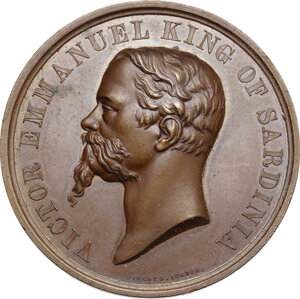 obverse: Vittorio Emanuele II  (1820-1878).. Medaglia 1860, Pinches Londra