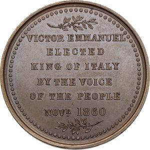 reverse: Vittorio Emanuele II  (1820-1878).. Medaglia 1860, Pinches Londra