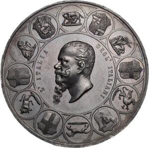 obverse: Vittorio Emanuele II  (1820-1878).. Medaglia 1861 per la Prima Esposizione Italia di Firenze