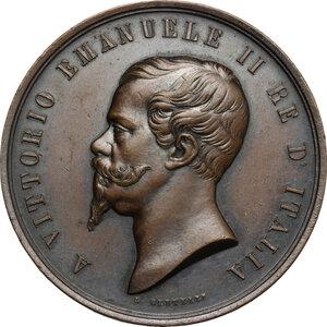 obverse: Vittorio Emanuele II  (1820-1878).. Medaglia 1861