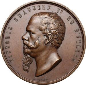 obverse: Vittorio Emanuele II (1820-1878). Medaglia 1862 per la Legge di unificazione monetaria d Italia