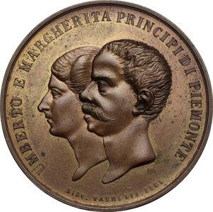 obverse: Umberto I (1878-1900).. Medaglia 11 novembre 1869 per la nascita di Vittorio Emanuele III