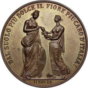 reverse: Umberto I (1878-1900).. Medaglia 11 novembre 1869 per la nascita di Vittorio Emanuele III
