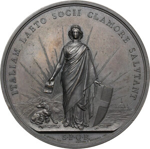 obverse: Vittorio Emanuele II  (1820-1878).. Medaglia 2 ottobre 1870 a ricordo del Plebiscito per l annessione di Roma all Italia