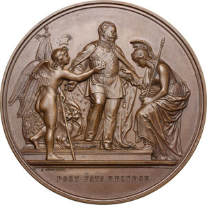 obverse: Vittorio Emanuele II  (1820-1878).. Medaglia 1871 per la proclamazione e il trasferimento a Roma della capitale d Italia