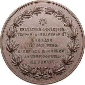 reverse: Vittorio Emanuele II  (1820-1878).. Medaglia 1871 per la proclamazione e il trasferimento a Roma della capitale d Italia