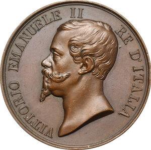 obverse: Vittorio Emanuele II  (1820-1878).. Medaglia s.d