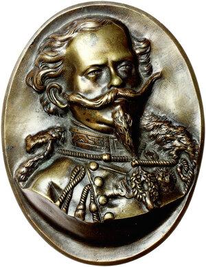 obverse: Vittorio Emanuele II (1820-1878). Placchetta ovale con ritratto del Re