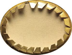 reverse: Vittorio Emanuele II (1820-1878).. Miniatura ovale in elegante cornice operata in bronzo dorato raffigurante Napoleone III e Vittorio Emanuele II all epoca delle Guerre d Indipendenza Italiane