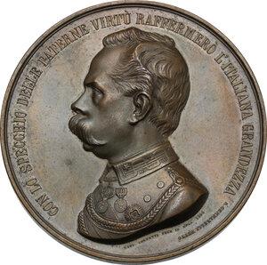 obverse: Umberto I (1878-1900).. Medaglia 1884 per la visita alla tomba di Vittorio Emanuele II