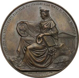 reverse: Umberto I (1878-1900).. Medaglia 1884 per la visita alla tomba di Vittorio Emanuele II