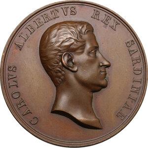 obverse: Carlo Alberto (1798-1849). Medaglia 1839