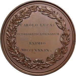 reverse: Carlo Alberto (1798-1849). Medaglia 1839