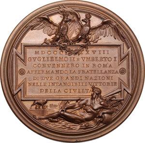 reverse: Umberto I (1878-1900).. Medaglia 1888 per la visita di Guglielmo II a Roma
