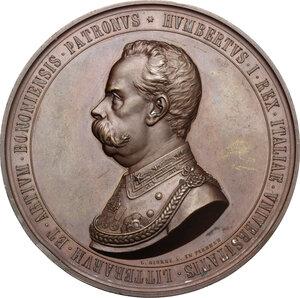 obverse: Umberto I (1878-1900).. Medaglia 1888  per l ottavo centenario dell Università di Bologna