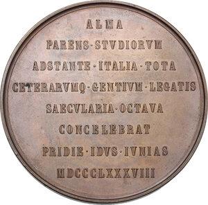 reverse: Umberto I (1878-1900).. Medaglia 1888  per l ottavo centenario dell Università di Bologna