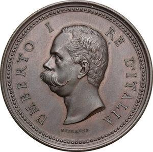 obverse: Umberto I (1878-1900).. Medaglia s.d. del Ministero d Agricoltura Industria e Commercio, al merito industriale