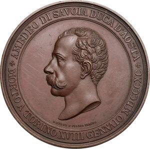 obverse: Amedeo di Savoia (1845-1890). Medaglia 1890 per la morte