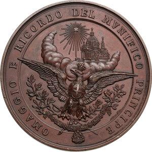 reverse: Amedeo di Savoia (1845-1890). Medaglia 1890 per la morte